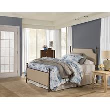 Mcarthur Upholstered Headboard and Footboard - Bronze / Linen Stone Fabric - King