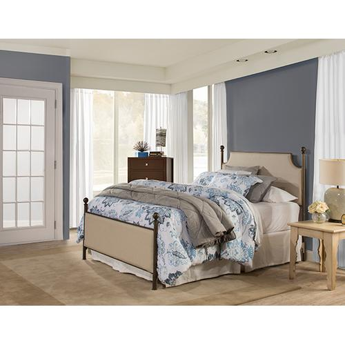 Gallery - Mcarthur Upholstered Headboard and Footboard - Bronze / Linen Stone Fabric - King