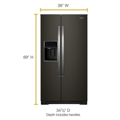 Whirlpool Canada - 36-inch Wide Side-by-Side Refrigerator - 28 cu. ft.