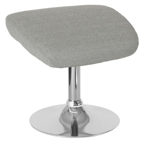 Light Gray Fabric Ottoman