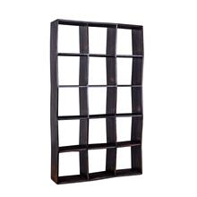 "Library 86"" Bookshelf Antique Black"