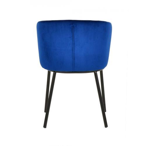VIG Furniture - Modrest Bessie - Modern Blue Velvet Dining Chair (Set of 2)