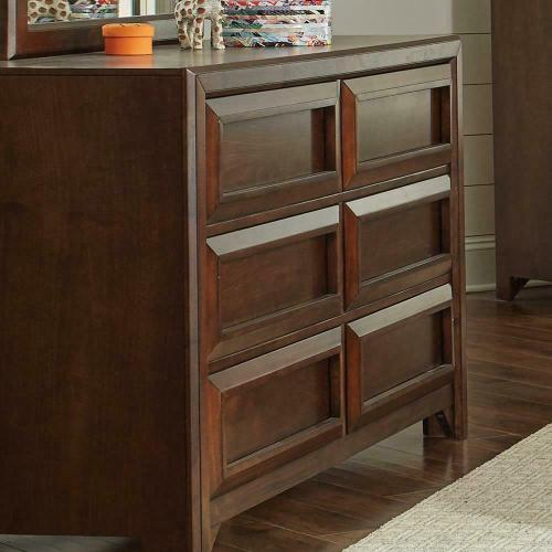 Greenough Transitional Cappuccino Six-drawer Dresser