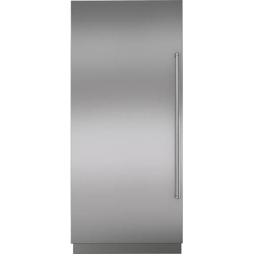 """Stainless Steel Door Panel with Pro Handle and 4"""" Toe Kick - LH"""