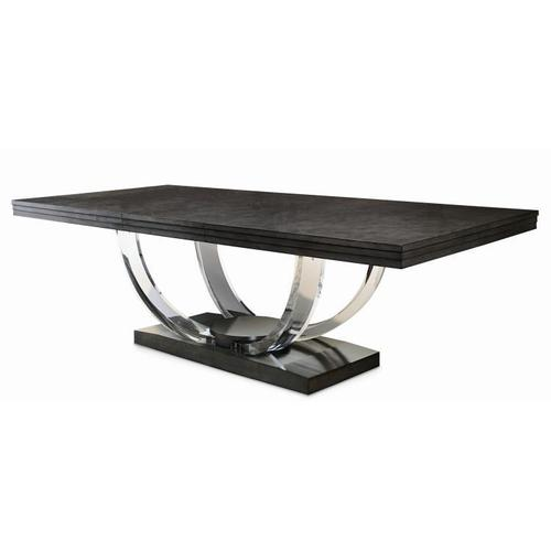 Product Image - Omni Dining Table With Acrylic Legs Cluster Maple