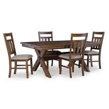 Turino Rustic Umber 5pc Dining Set