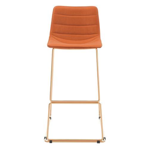 Zuo Modern - Adele Bar Chair Orange & Gold