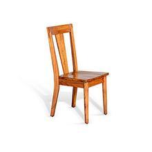 American Modern T-Back Side Chair Wood Seat