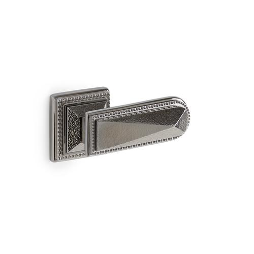 Brushed Nickel Hammered Pyramid Door Lever