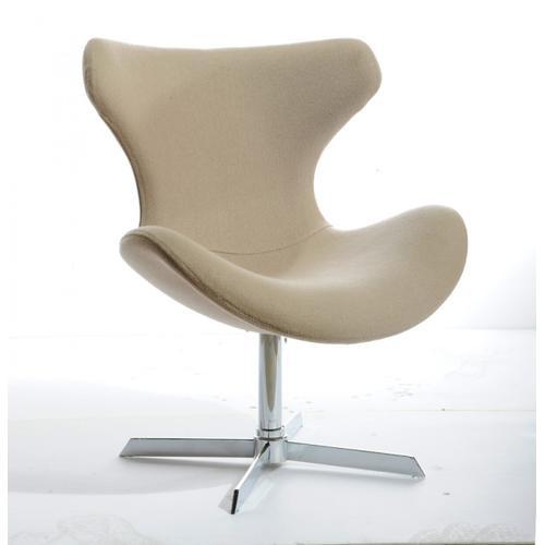 VIG Furniture - Modrest Aludra Modern Beige Fabric Lounge Chair