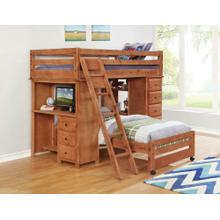 Wrangle Hill Twin-over-full Loft Bed With Desk