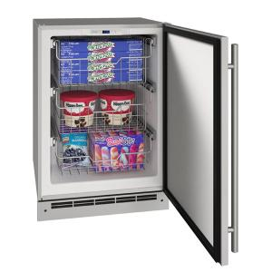 """U-Line24"""" Convertible Freezer With Stainless Solid Finish (115 V/60 Hz Volts /60 Hz Hz)"""