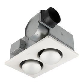 Broan® Two-Bulb Heater/Ventilation Fan 70 CFM, (2) 250W BR40 Infrared Bulbs, 4.0 Sones