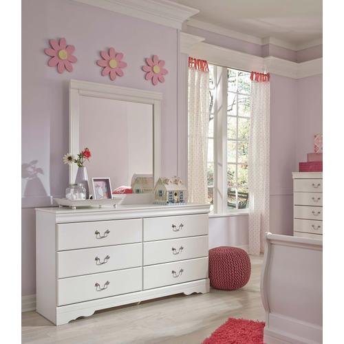 Anarasia Bedroom Mirror White