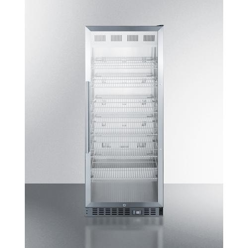 View Product - Mid-sized Pharmaceutical All-refrigerator With Stainless Steel Construction Inside and Out, Digital Controls, and Self-closing Glass Door