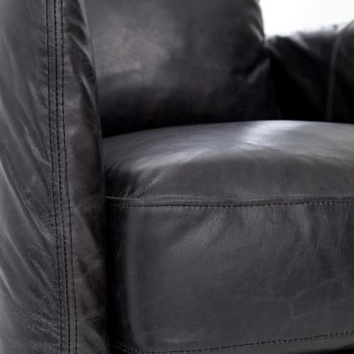 Rider Black Cover Banks Swivel Chair