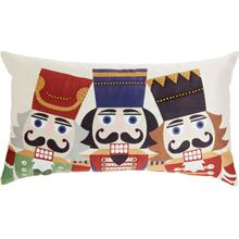 """Home for the Holiday L8525 Multicolor 14"""" X 24"""" Throw Pillow"""