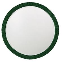View Product - Amelia Mirror - Glossy Hunter Green