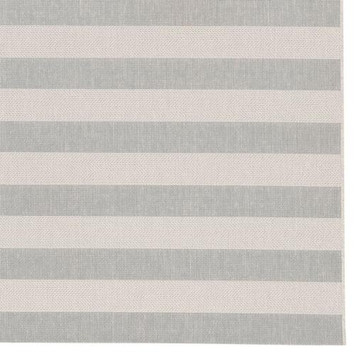 "Finesse-Stripe Silver - Rectangle - 3'11"" x 5'6"""