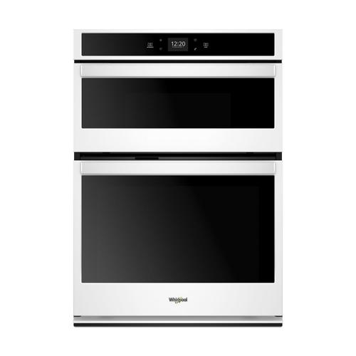 Whirlpool - 5.7 Cu. Ft. Smart Combination Wall Oven with Touchscreen White