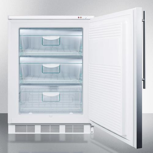 Commercial Built-in Medical All-freezer Capable of -25 C Operation, With Wrapped Stainless Steel Door and Thin Handle