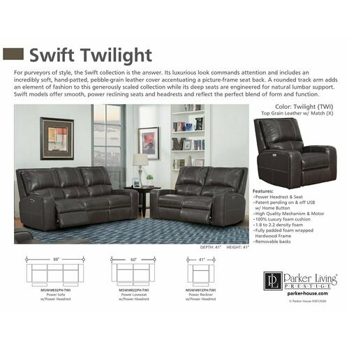 SWIFT - TWILIGHT Power Recliner