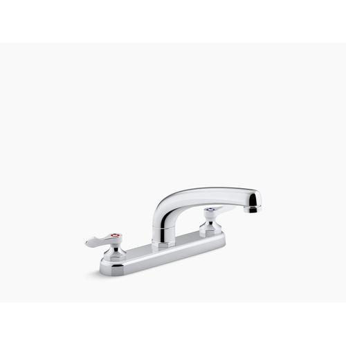 "Polished Chrome 1.8 Gpm Kitchen Sink Faucet With 8-3/16"" Swing Spout, Aerated Flow and Lever Handles"