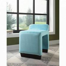 ACME Alford Ottoman - 59893 - Contemporary - Flannel, Frame: Wood (Hardwood, Poplar, Ply), Foam (28D) - Blue Flannel