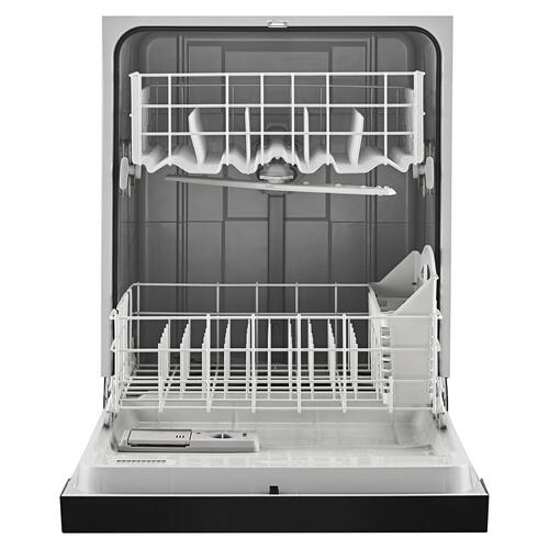 Dishwasher with Triple Filter Wash System Black