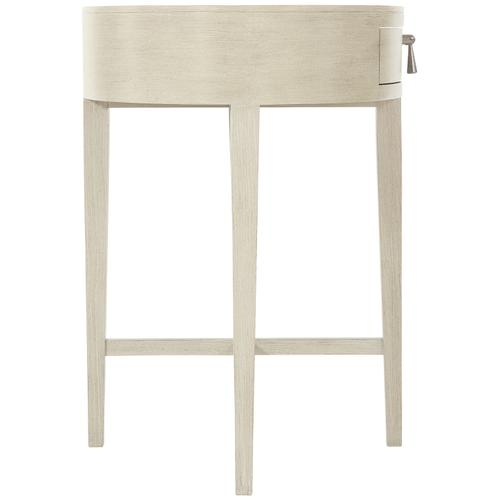 East Hampton Oval Nightstand in Cerused Linen (395)
