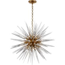 E. F. Chapman Quincy 20 Light 30 inch Antique Burnished Brass Pendant Ceiling Light in Antique-Burnished Brass, E.F. Chapman, Medium, Sputnik, Clear Acrylic Shade