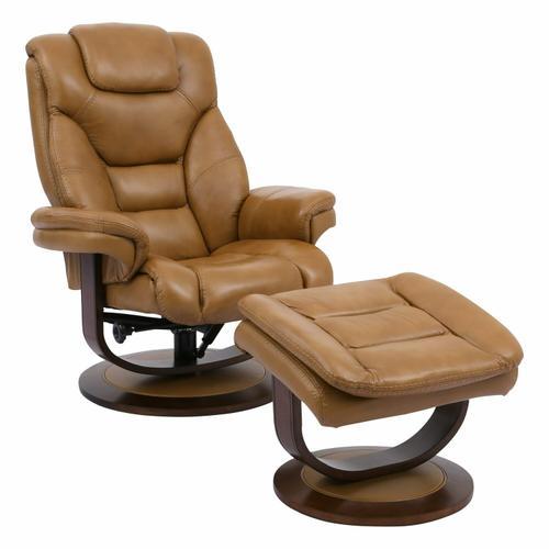 Parker House - MONARCH - BUTTERSCOTCH Manual Reclining Swivel Chair and Ottoman