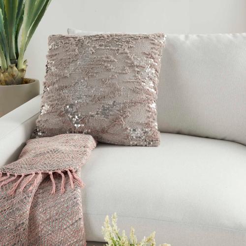 "Sofia Vv212 Grey 20"" X 20"" Throw Pillow"