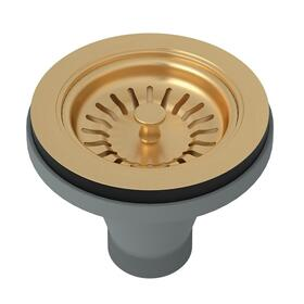Satin English Gold Manual Basket Strainer Without Remote Pop-Up