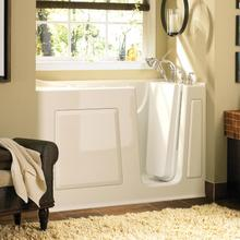 Gelcoat Value Series 30 x 60 Inch Walk-in Tub with Combination Massage  Right Drain  American Standard - Linen