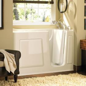 Gelcoat Value Series 30 x 60 Inch Walk in Tub with Air Spa System  Right Drain  American Standard - Linen