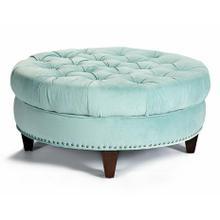 Cecilia Round-Button-Tufted Ottoman