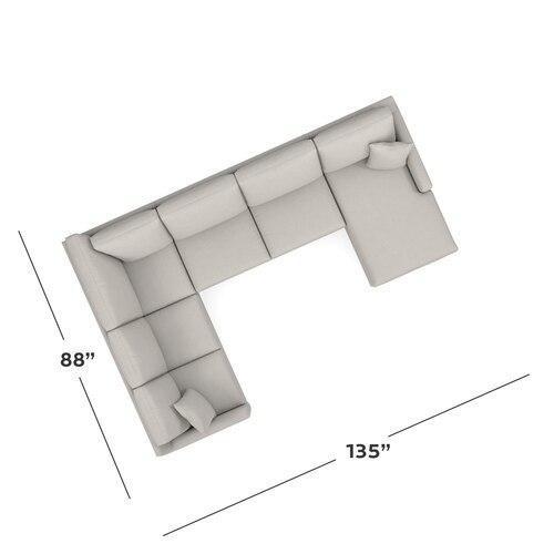Product Image - Carolina Thin Track Arm U-Shaped Sectional
