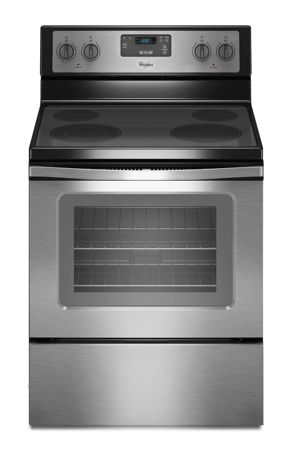 Whirlpool4.8 Cu. Ft. Freestanding Electric Range With Flexheat Dual Radiant Element Black-On-Stainless