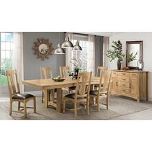 7 PIECE SET (TABLE AND 6 SIDE CHAIRS)