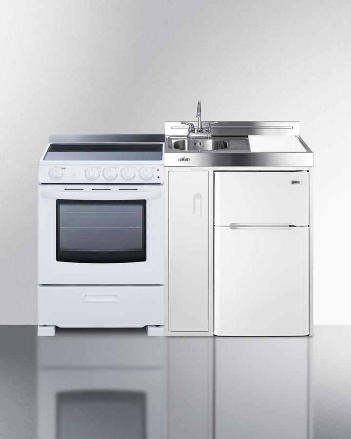 """Summit54"""" Wide All-In-One Kitchenette With Electric Range"""