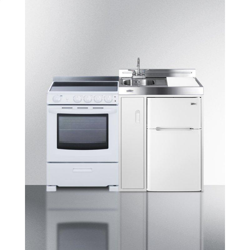 """54"""" Wide All-in-one Kitchenette With Electric Range"""