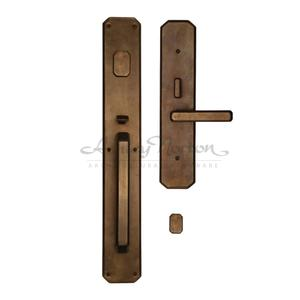 AGLGL Escutcheon Shown with Artemis 680 lever in light bronze patina Product Image