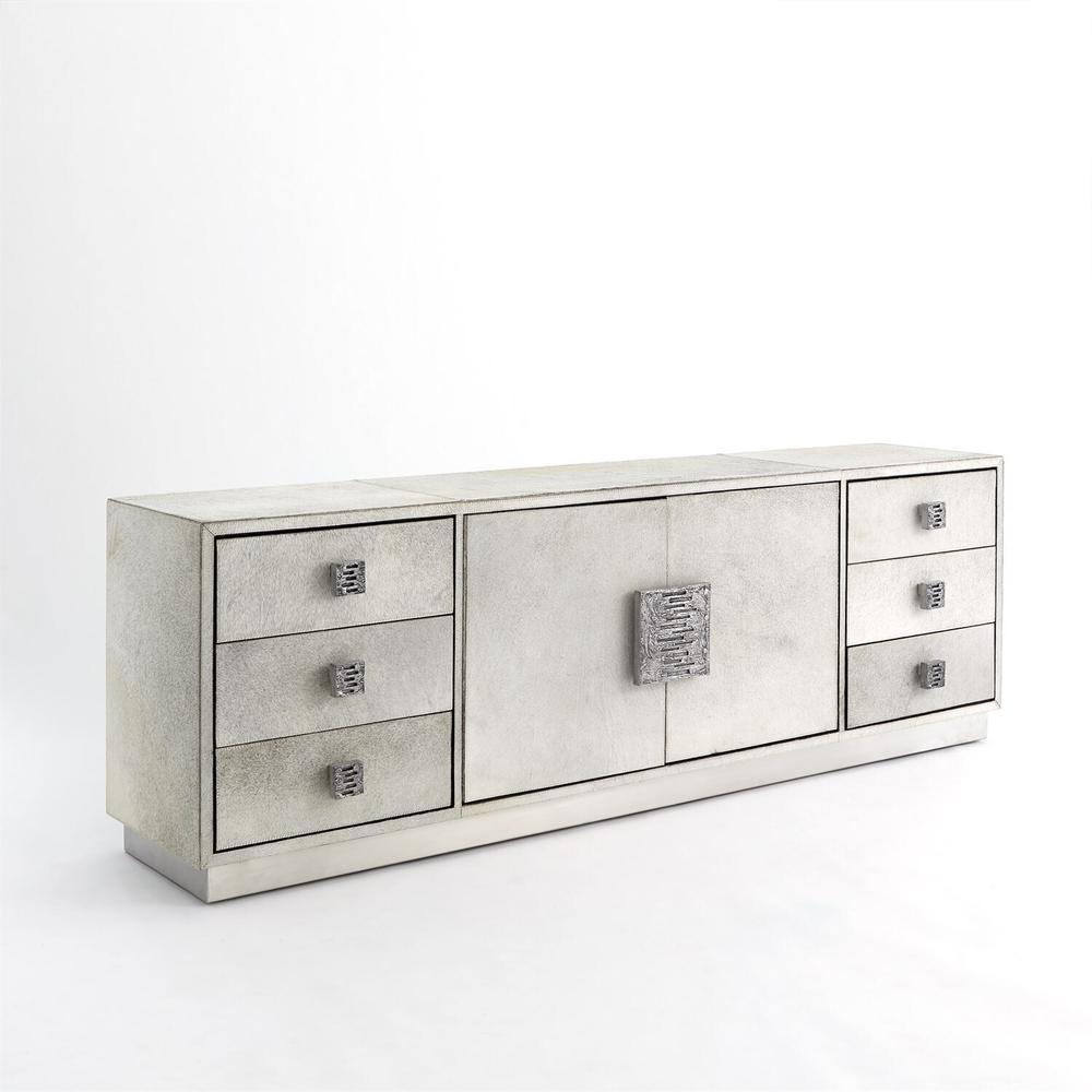 See Details - Metro Long Cabinet-Grey Hair-on-Hide