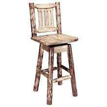 Glacier Country Collection Barstool with Swivel Seat