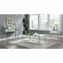 ACME Wisteria Coffee Table - 80605 - Mirrored & Rose Gold