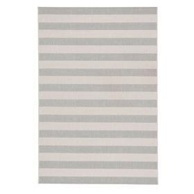 "Finesse-Stripe Silver - Rectangle - 3'11"" x 5'6"""