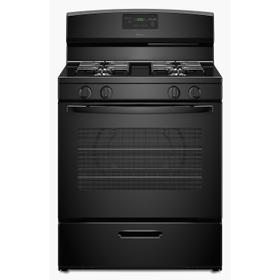 30-inch Gas Range with Easy Touch Electronic Controls Black
