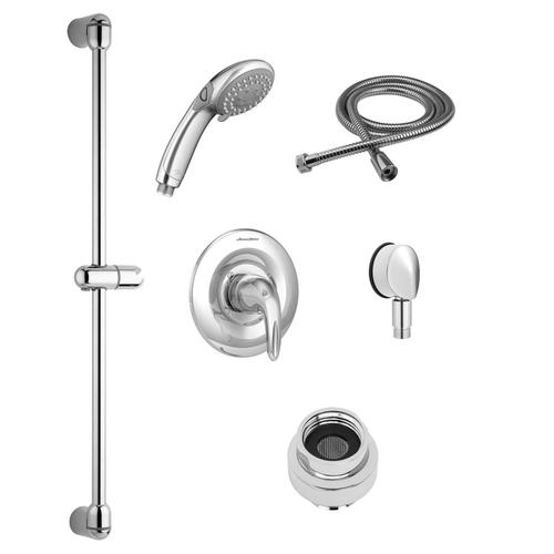 American Standard - Commercial Shower System Kit with Hand Shower for Flash Rough Valve - 2.5 GPM  American Standard - Polished Chrome