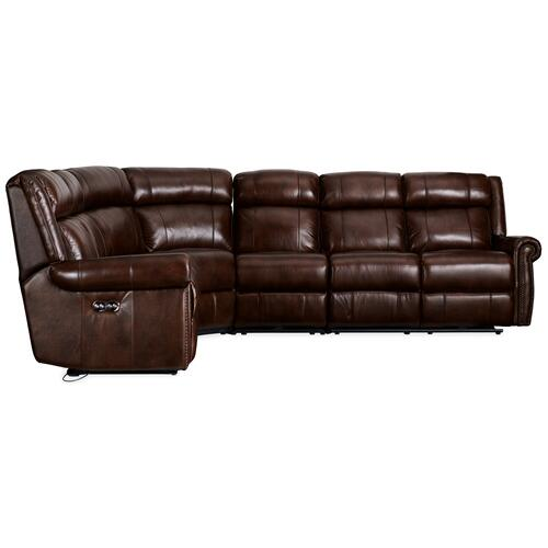 Hooker Furniture - Esme 4-Piece Sectonal w/3 Power Recliner w/ Power Headrest